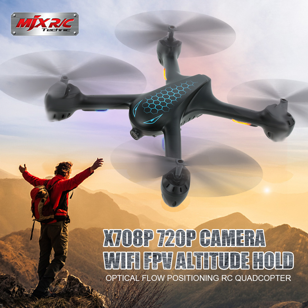 MJX X708P 720P quadrocopter with Camera Drone profissional Wifi FPV Dron Optical Flow Positioning Altitude Hold RC HelicopterMJX X708P 720P quadrocopter with Camera Drone profissional Wifi FPV Dron Optical Flow Positioning Altitude Hold RC Helicopter