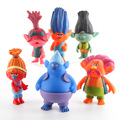 2016 Cartoon Movie Trolls Poppy DJ Suki Guy Diamond Cooper Branch Critter Skitter Boards PVC Action Figures Toys