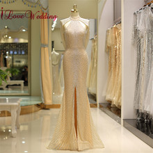 iLoveWedding 2019 Luxury Evening Dresses High Neck Trumpet