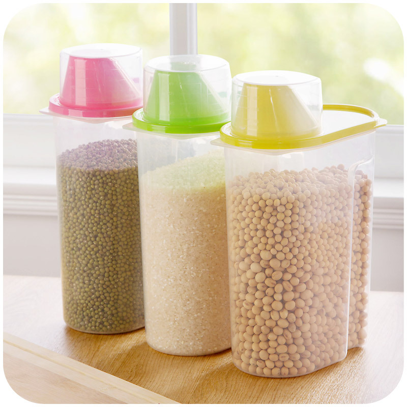 wonderful Airtight Kitchen Storage Containers #8: covered kitchen measuring cup food grain storage tank king sealed jar kitchen storage containers down.