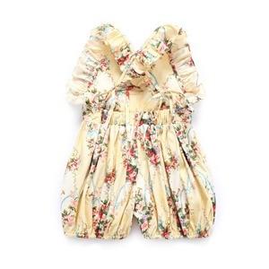 Image 5 - Flofallzique Marke Baumwolle Floral Druck Baby Mädchen Overall Sommer Strampler Outfits Elastische Taille Kleinkind Kinder Kleidung 1 6Yrs