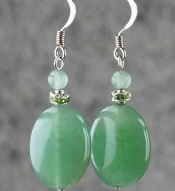 Fashion Elegant font b Earrings b font natural aventurine jade jewelry crystal accessories High quality font