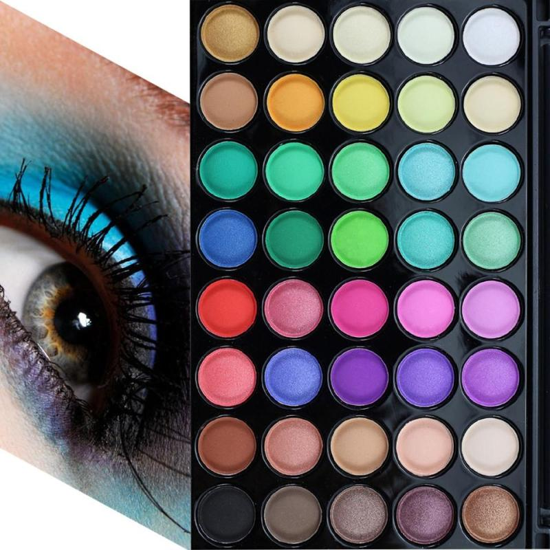 Popfeel Eyeshadow Palette 40 Color Silky Powder Waterproof P