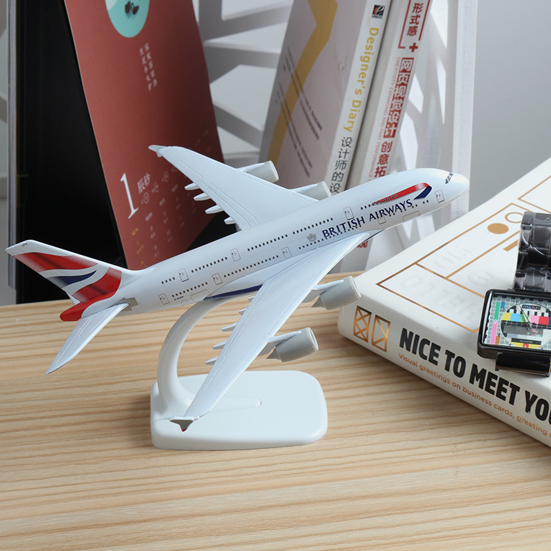 20cm A380 Great British Airlines Plane Model Airbus Alloy Aviation A380 England Air Airways British Airplane Model Collection