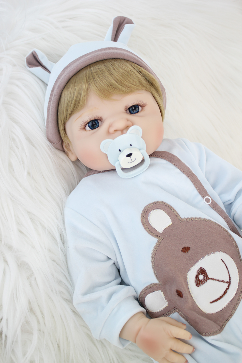 55cm Full Silicone Body Reborn Doll Toys 22inch Newborn Boy Babies Doll Birthday Gift Kids Bathe Toy Girl Baby Alive Boneca 55cm full silicone body reborn baby doll toys like real 22inch newborn boy babies toddler dolls birthday present girls bathe toy
