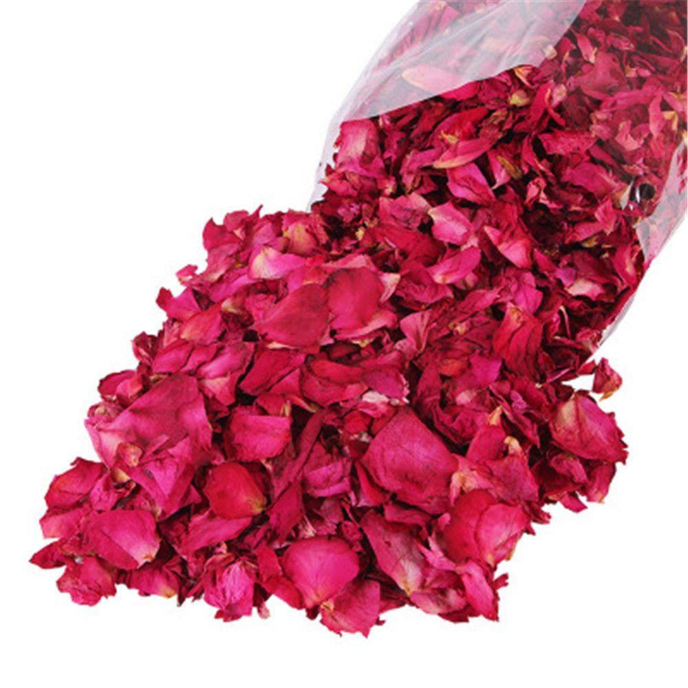 1 Bag 50g Natural Dried Rose Petals Dry Flower Petal Women Bath Supplies Whitening Shower Bath Tool