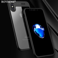 For iPhone X XS XR XS Max Hard PC Case Clear Transparent Back Cover Soft TPU Hybrid Case For iPhone X 7 8 6 6S Plus Luxury Capa цена