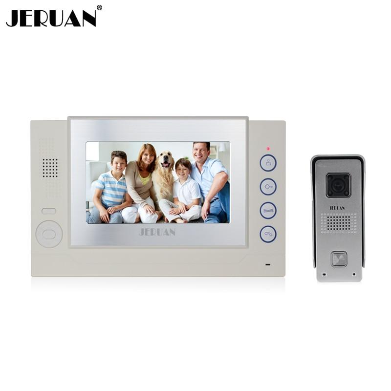 JERUAN Free shipping 7 inch video door phone doorbell intercom system video recording video doorphone speaker intercom