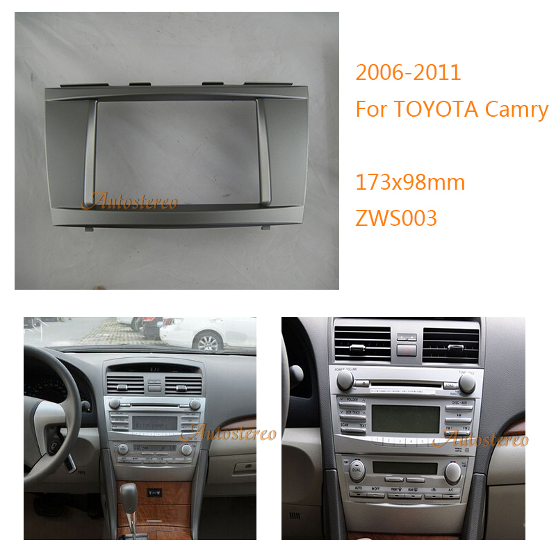 car cd radio frame kit fascia surround panel for toyota camry 2006 2011 stere. Black Bedroom Furniture Sets. Home Design Ideas