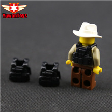 10Pcs Lot MOC Bomb Disposal Unit Body Armor Military Weapon Army Soldiers Building Blocks Body Armor