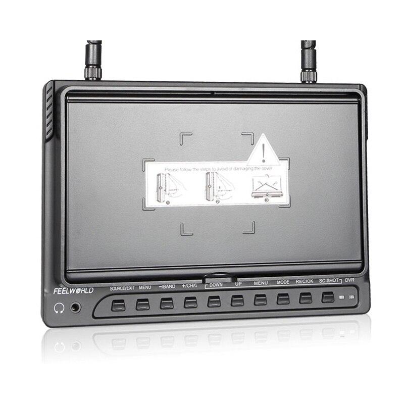 FEELWORLD 7 дюймов IPS 1024x600 FPV-системы Мониторы для DRONE БПЛА со встроенным Батарея двойной 5.8 Г 40ch разнообразие приемник с DVR pvr732