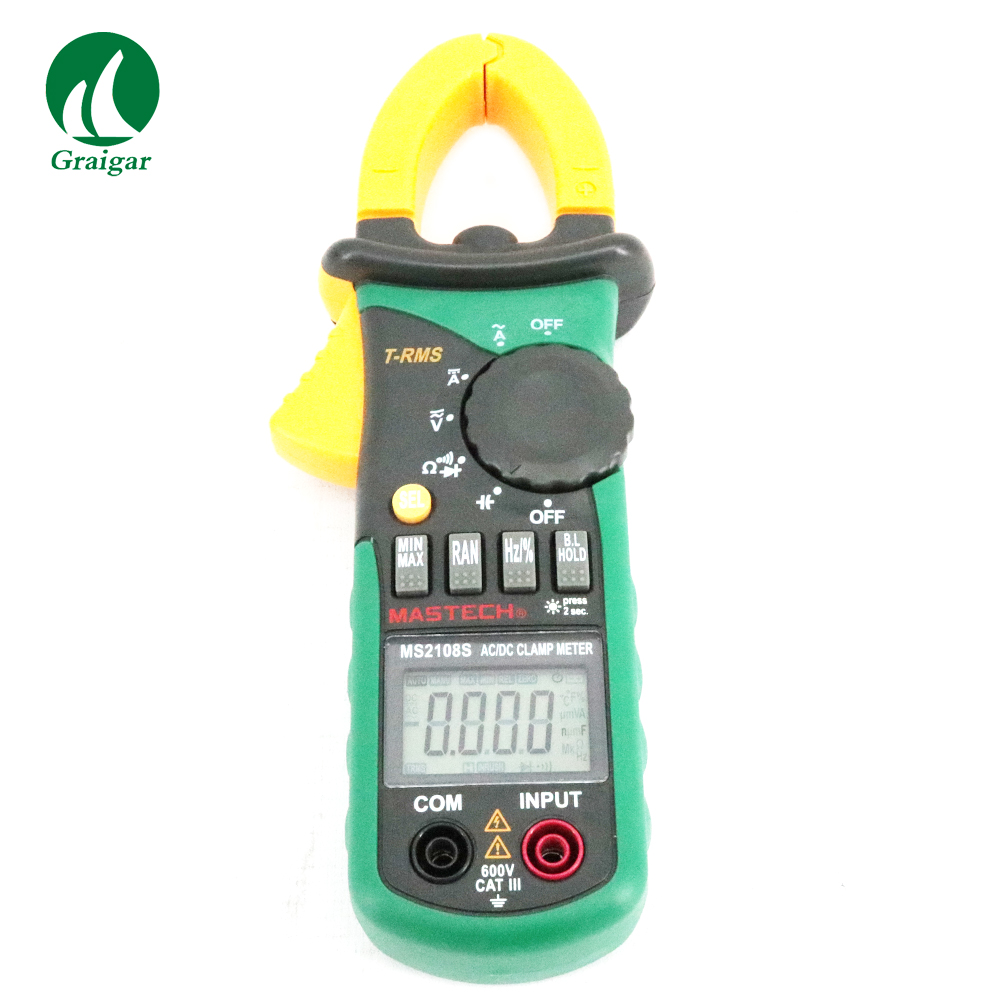 MS2108S MASTECH True RMS 6600 counts Digital AC DC Current 600A Clamp Meter prof clamp meter ac a 20a 200a 600a tes3010