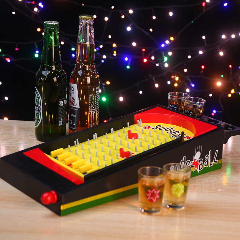 1 Set Shot Nail Ball Wine Game Bar Entertainment Deluxe Spinning Roulette Poker Chips Party Supplies for Adult Drinken Game