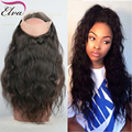 Pre Plucked 360 Lace Frontal Closure With Baby Hair Hot Beauty Peruvian 360 Lace Virgin Hair Water Wave Frontal 8A Lace Closure