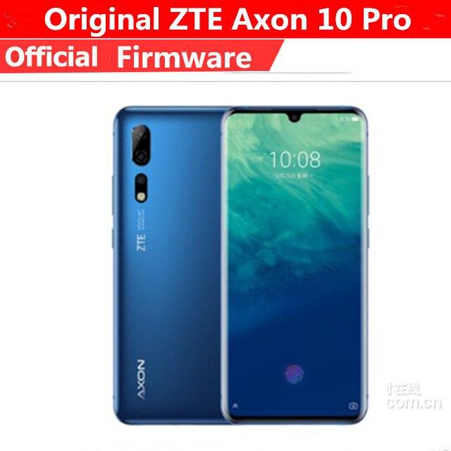 Original ZTE Axon 10 Pro Mobile Phone Snapdragon 855 Android 9.1 6.47 Inch IPS 2340x1080 12GB RAM 256GB ROM 48.0MP Fingerprint
