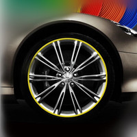 8meter Car Wheel Trim Alloy Wheel Arch Protector Rim Guard Adhesive Roll Car Styling For Volvo