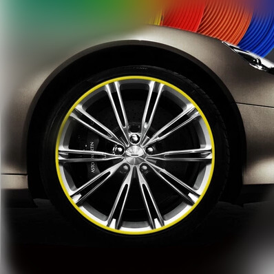Mini Cooper Black Rimblades Alloy Wheel Edge Ring Rim Protectors Tyres Tire Guard Rubber Moulding
