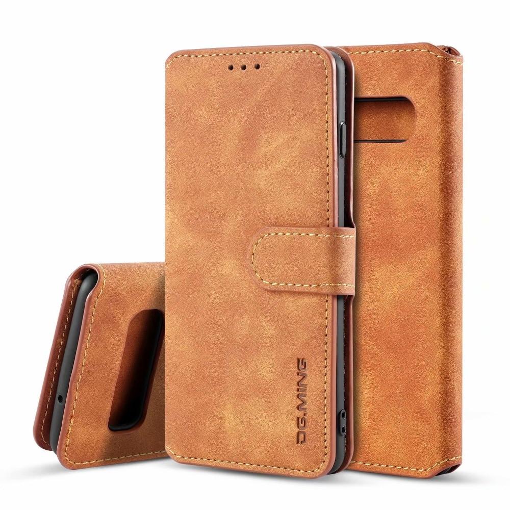 S10 Retro Leather Flip Case For Samsung Galaxy S10 Plus S10e S10+ Case Wallet 3 Card Slot Business Cover for Galaxy S10 10e Case