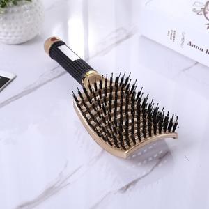 Image 5 - Cheveux cuir chevelu Massage peigne brosse à cheveux soies Nylon femmes humide bouclés démêler brosse à cheveux pour Salon de coiffure outils de coiffure