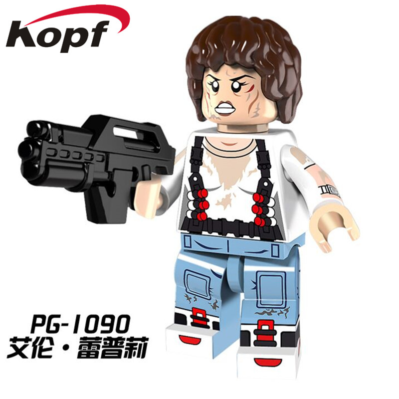 PG1090 Super Heroes The Movie Series Parasite Alien Ellen Ripley Dolls Bricks Building Blocks Assemle Model Children Gift Toys nematode parasite infesting lizard and their physiological effects