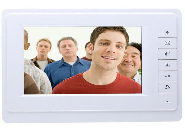 Yobang Security freeship 7 video intercom video doorbell phone intercom system white monitor outdoor with waterproof camera