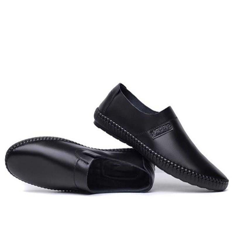 Glissement Respirant Souple Version Chaussures Mode Hommes Casual Sur D'entraînement Plat Nouveau Cuir De Et Des Gratuite Confortable Mocassins En Luxe waY7q8
