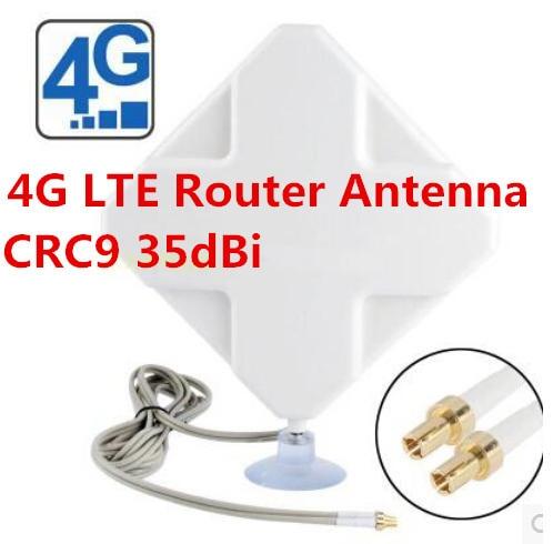 Antena de panel LTE 4G 4g router wifi interior CRC9 antena 35dBi
