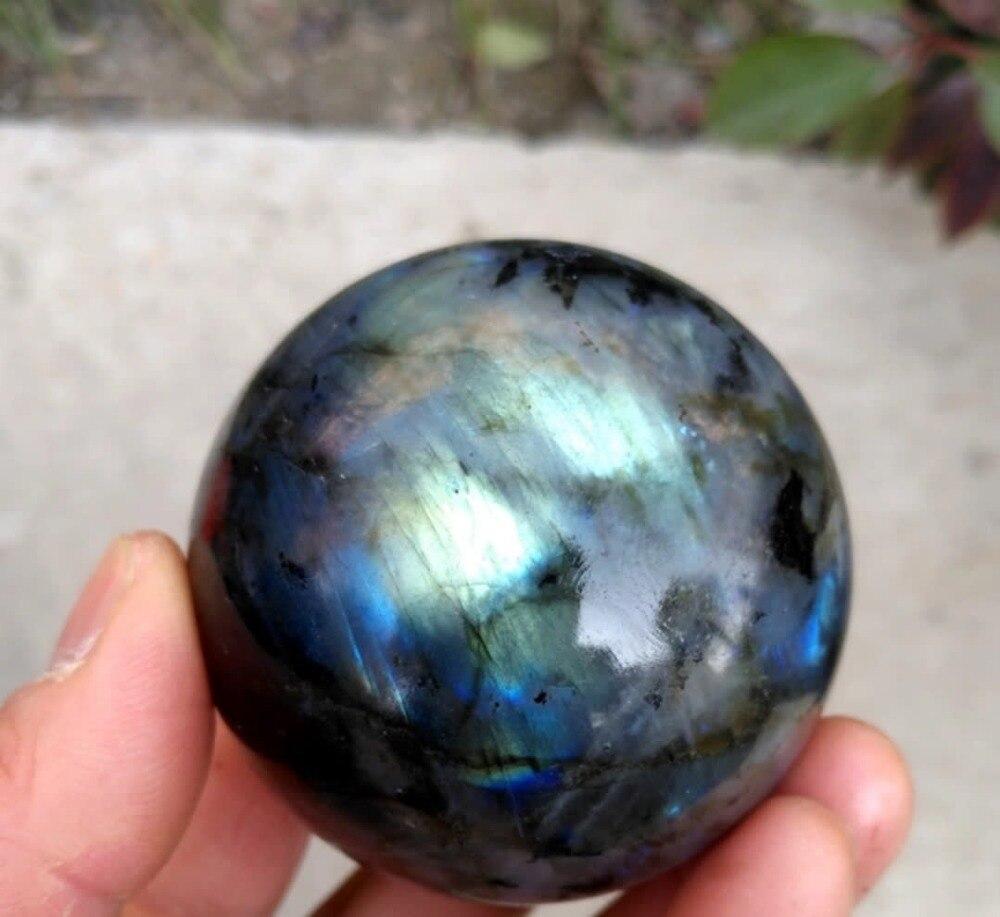 45mm NATUREL labradorite quartz sphere boule de guérison + stand