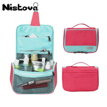 Portable Large Capacity Zipper Hanging Wash Bag  Multi-function Makeup Storage Box Cosmetic Travel Waterproof Cosmetic Bag недорого