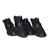 Dog Shoes Waterproof Rubber Sole Pet Shoes Non Slip Shoes For Dogs 4 Pcs