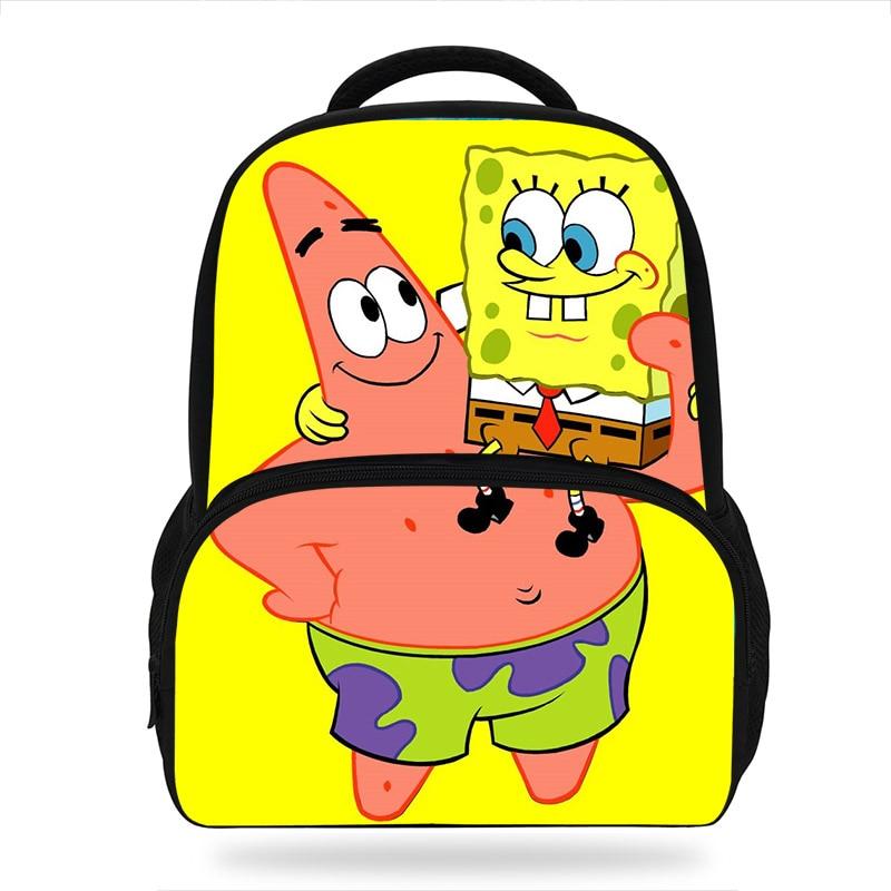 Teenager Cartoon SpongeBob And Patrick Star Print Backpack Girls School Bags Hot Primary Backpack Schoolbags For Boys Mochila