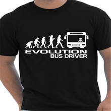 Evolution Of A Bus Driver T-Shirt Summer 2016 Autumn Funny Unisex T Shirt Homme Casual Letter Print Cotton Tshirt T-F11911