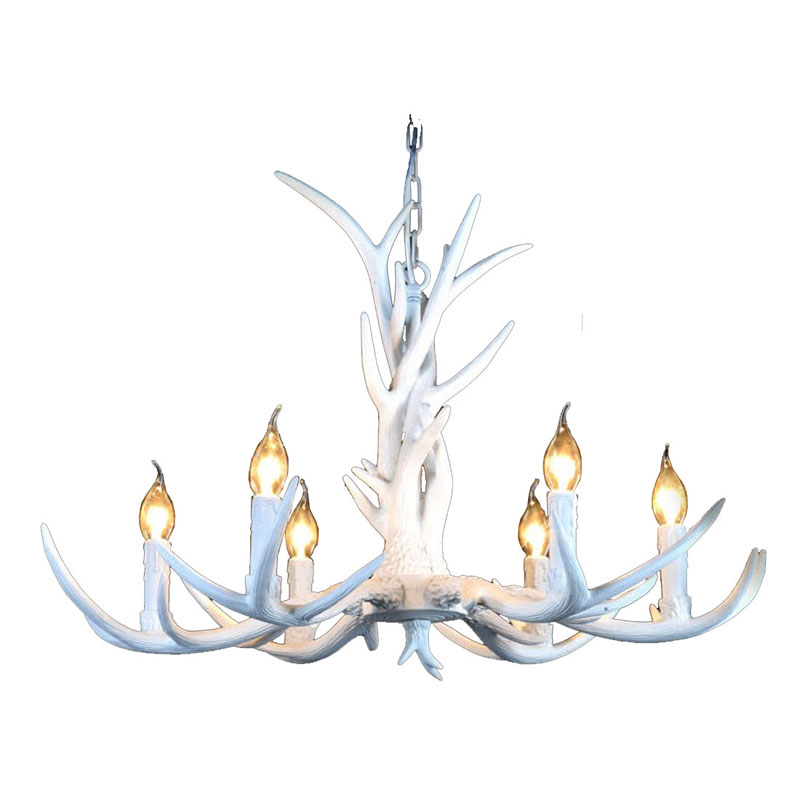 6/8/10 Heads American Resin Chandeliers Lighting,Europe Country Style Retro Antler ceiling Pendant Lamp Fixture E14