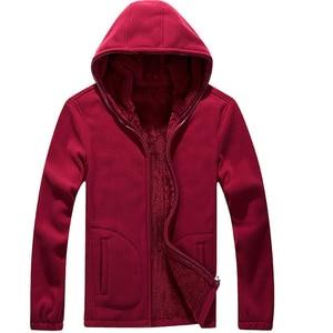 Image 5 - Mountainskin 7XL Winter Mens Jackets Thick Fleece Hooded Hoodies Men Sweatshirt Solid Casual Male Coats Brand Clothing SA116