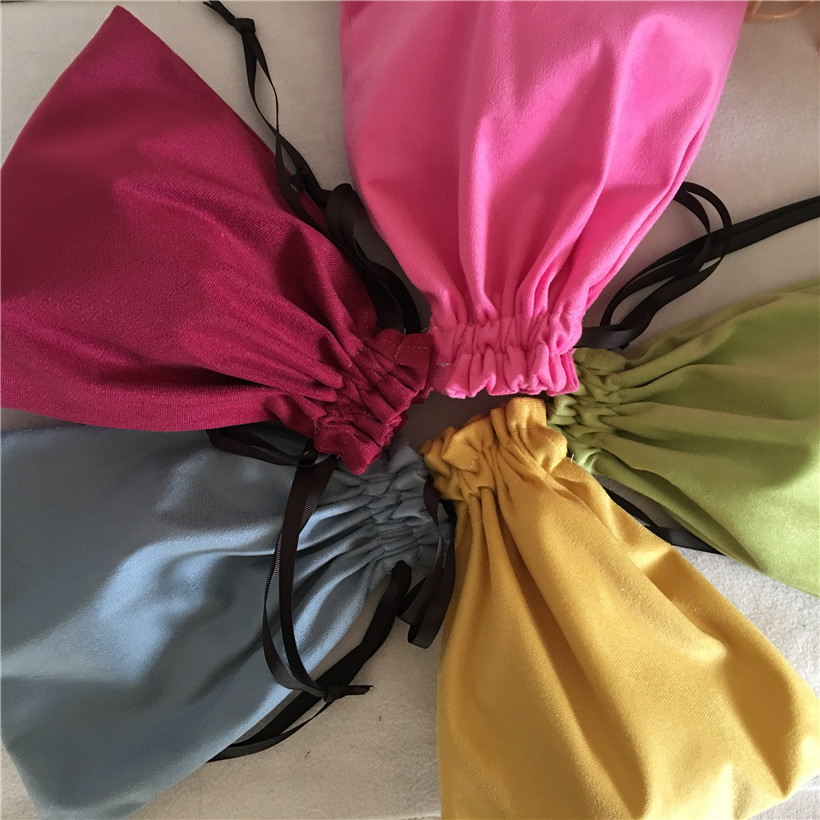 YILE Velour Drawstring Bag Multi-purpose Organizer Pouch Party Gift Bag 5 Colors To Choose 8218d