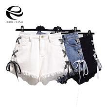 Plus Size 6XL Harajuku Vintage Tassel Denim Shorts Women Lac