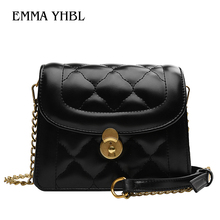 цена на EMMA YHBL  New stylish single-shoulder cross-body style small square bag for women 2019 with small xiangfeng ling chain bag