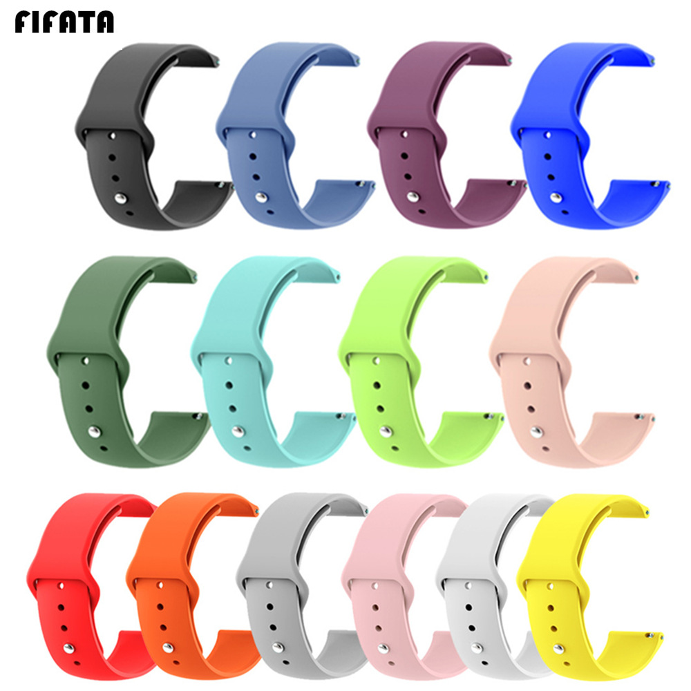 FIFATA Silicone Watchband For Xiaomi Huami Amazfit Bip Youth Watch 20mm Sport Wrist Strap For Samsung Galaxy/Gear S3 Watch 22mm