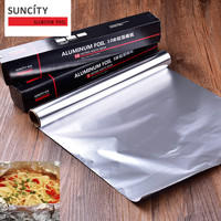 Wrap Roll Aluminum Metal Tin Non Stick Foil Paper Food Pack Cook Baking BBQ Grill Silver
