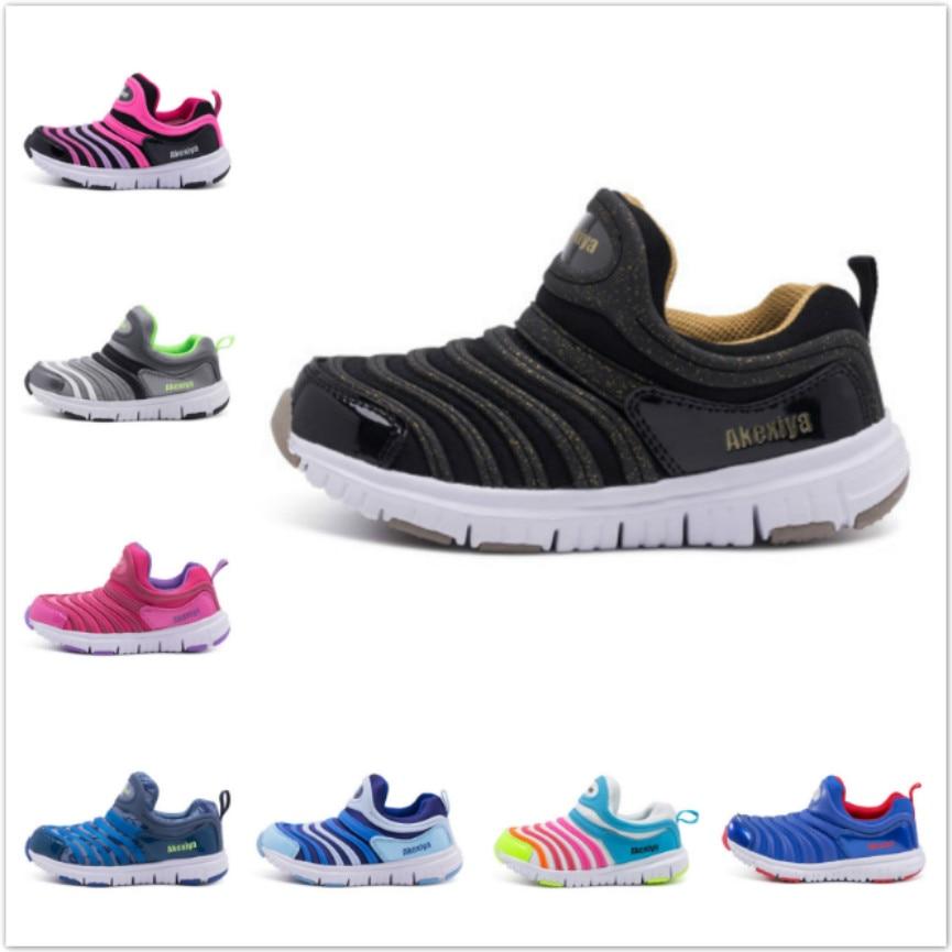 2018 Frühling Kinder Schuhe Mode Turnschuhe Jungen Sport Laufschuhe Atmungsaktive Schuhe Kinder Raupe Größe 25-37 Casual Mädchen Schuhe