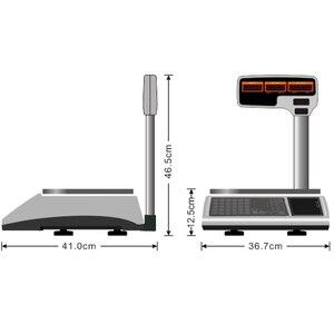 Image 4 - ราคาใบเสร็จรับเงินการพิมพ์ขนาด 30kg เครื่องชั่งน้ำหนักสนับสนุนเครื่องพิมพ์ความร้อนหลายภาษาการพิมพ์เบเกอรี่หรือร้านอาหาร