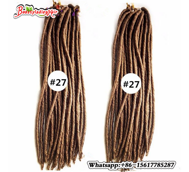 Virkade Faux Locs 18inches 24strands Soft Dread Lock Hår Faux Locs - Syntetiskt hår - Foto 5