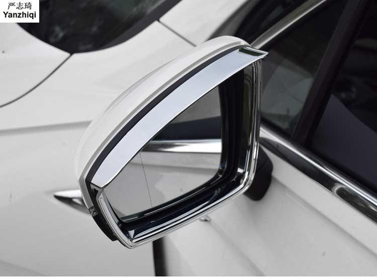 2pcs/lot Rearview Mirror Eyebrow Rain Shield Cover Trim Car-Styling Sticker Chrome for 2016 2017 2018 Volkswagen VW Tiguan mk2