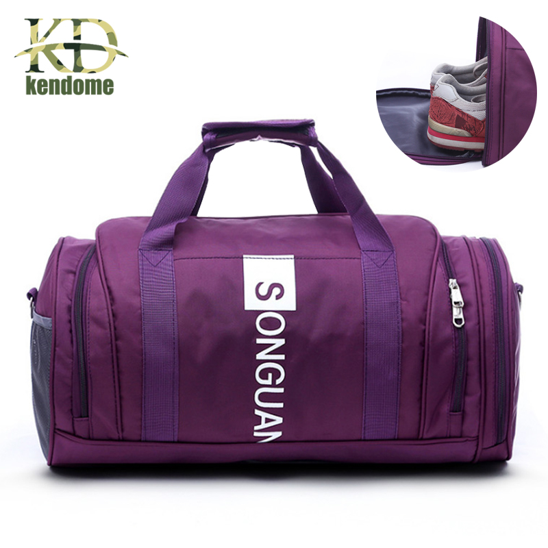Hot Waterproof Nylon Sports Men Women Gym Bags With Shoes Pocket Training Travel Hiking Handbag Yoga Duffel Bags Mochila Bolso ...