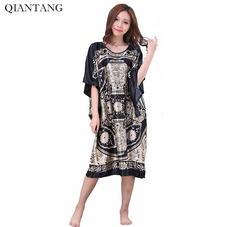 Hot Sale Lady Summer Robe Black Chinese Womens Rayon Bath Gown Yukata Nightgown Nightdress Nuisette Pijama Mujer One Size Zh07A