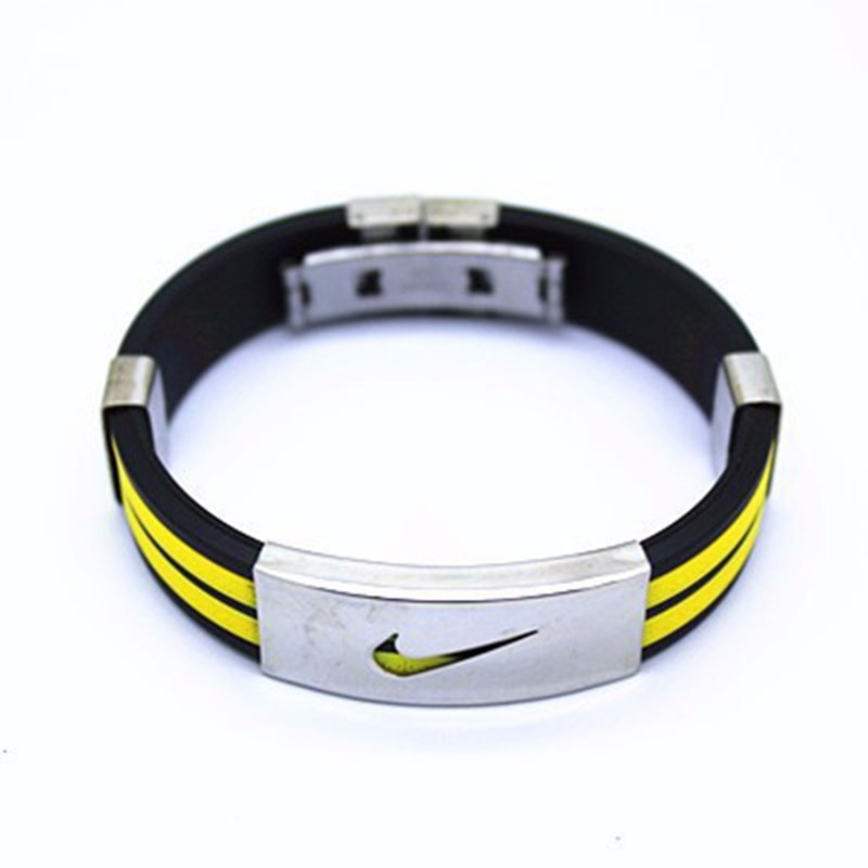 Fashion Trendy Men Bracelet High Quality Stainless Steel Silicone Bracelets Jewelry Accessories For Best Friends Wristband In Cuff From