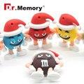 Memory stick 4 ГБ 8 ГБ 16 ГБ flash disk 32 ГБ 64 ГБ USB Disk 2.0 ключ флешки с цепью М & М бин USB FLASH DRIVE Рождество Pen Drive