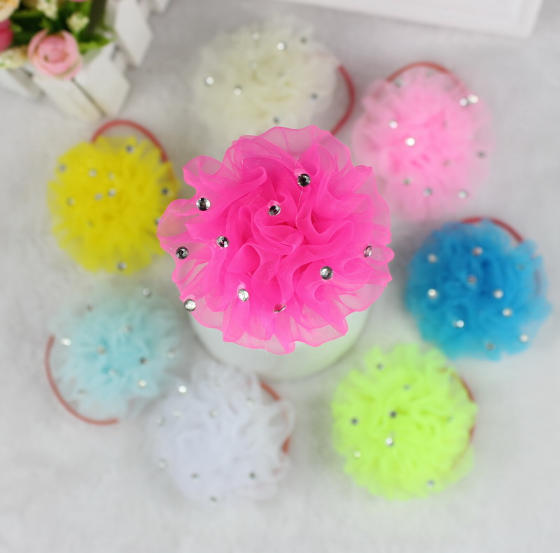 isnice 2pcs Free Shipping Fashion girl hair accessories flower hair rubber ornaments children barrette hair styling   Headwear