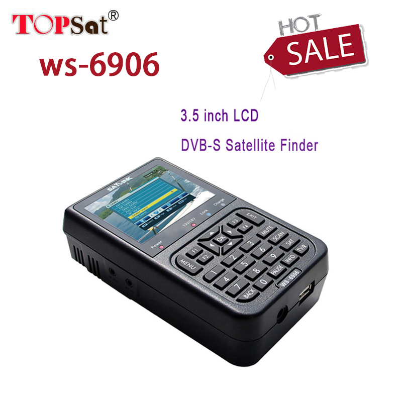 Newest Satlink WS-6906 3.5 inch DVB-S FTA Digital Satellite Signal Automatic Channel Search TV + Radio WS 6906 satellite Finder satlink ws 6906 dvb s fta digital satellite signal meter satellite finder supports diseqc 1 0 1 2 qpsk