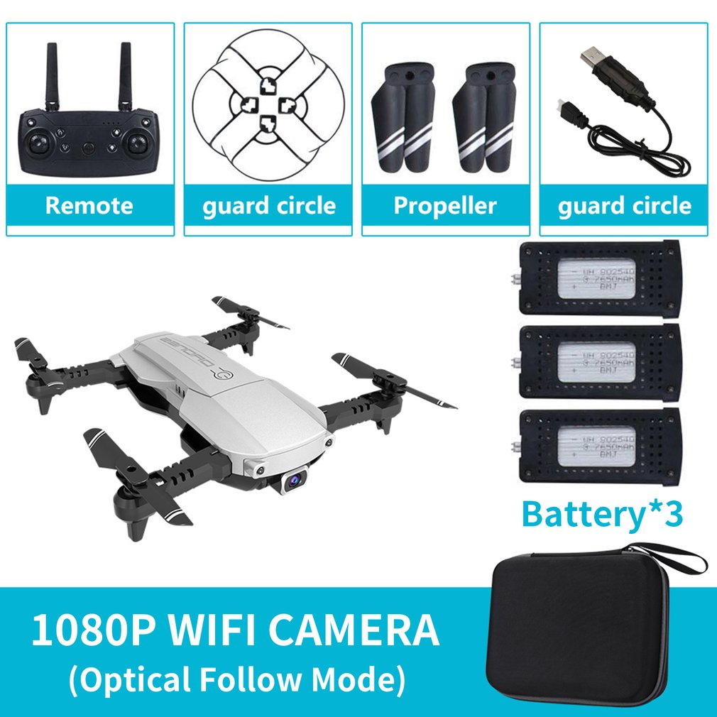 KY601S RC Drone Foldable Quadcopter With WiFi FPV 1080P HD Camera 3 battery x7